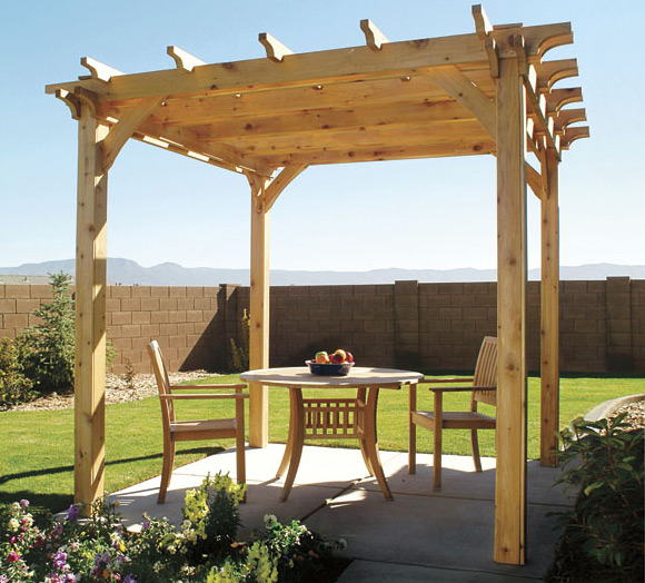 15 beautiful pergola designs to make your own for Photos pergolas